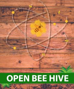 open bee hive 2mo